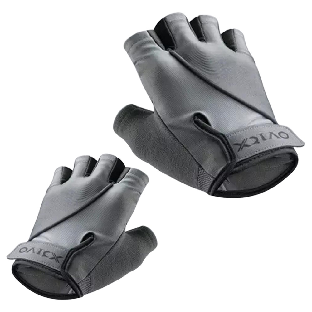 Xiaomi XQIAO Q850 Lightweight Lifting Fitness Gloves Aniti-silp Half Finger Gloves Size S - Gray