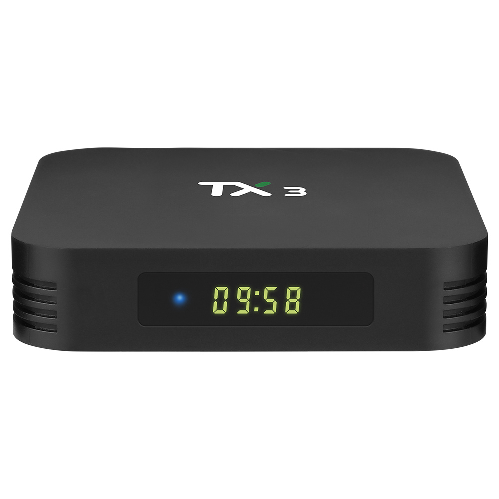 TANIX TX3 ALICE UX 4 Go / 64 Go Amlogic S905x3 8K Décodage vidéo Android 9.0 TV Box Bluetooth 2.4G + 5.8G WiFi LAN USB3.0 Youtube Netflix Google Play