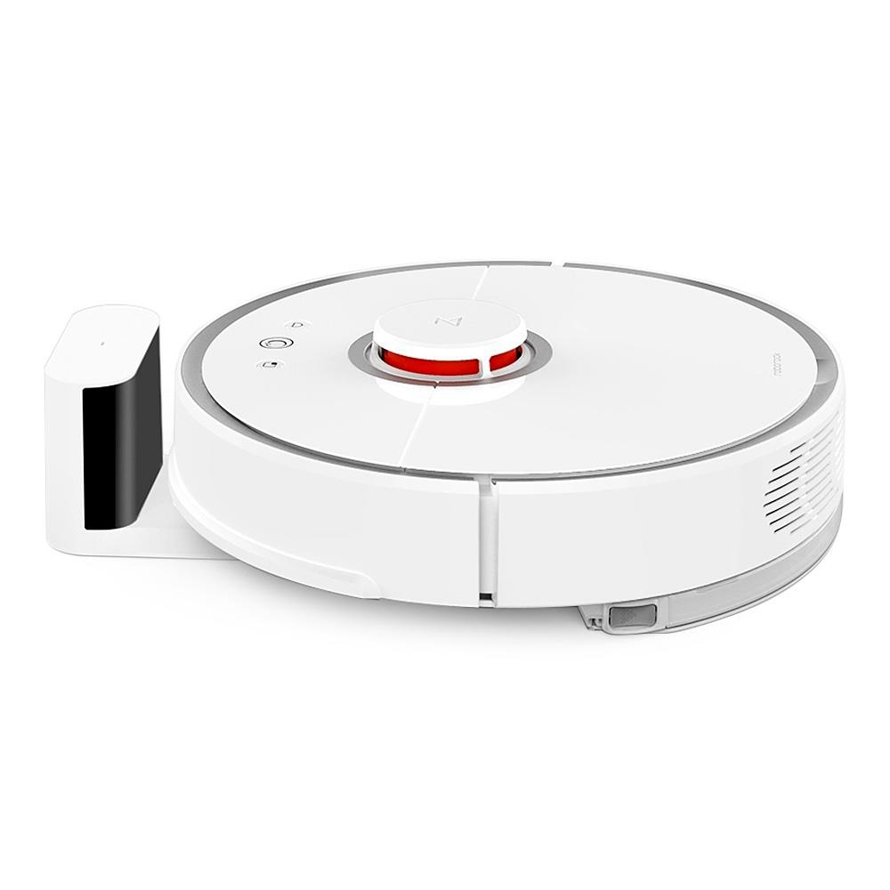 Roborock S50 Robot Vacuum Cleaner 2 APP Virtual Wall Automatic Area Cleaning 2000pa Suction 2 in 1 Sweeping Mopping Function LDS Path Planning 5200mAh Battery MI Vacuum Cleaner Second Generation -White
