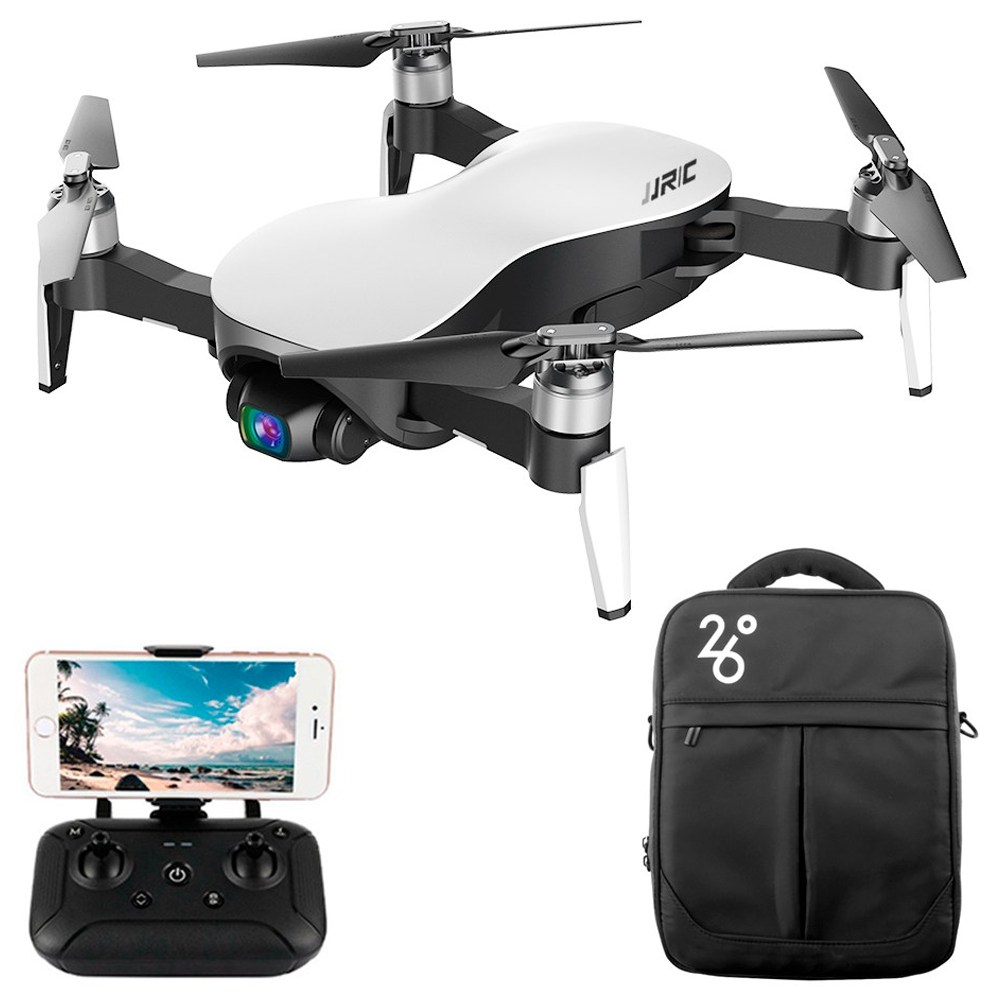 JJRC X12 AURORA 4K 5G WIFI 3KM FPV GPS Foldable RC Drone With 3Axis Gimbal 50X Digital Zoom Ultrasonic Positioning RTF - White One Battery with Bag