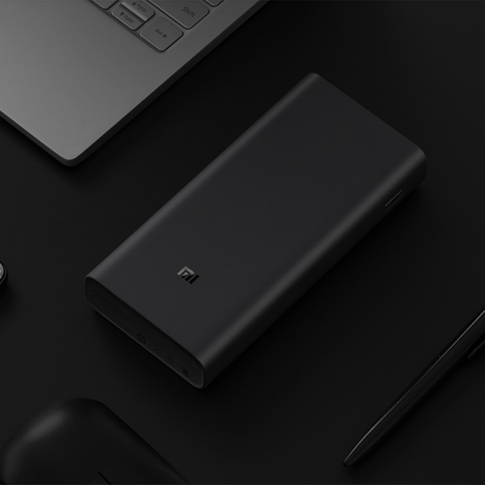 Xiaomi Mi3 Power Bank 20000mAh Triple USB Output 50W Quick Charge Lithium Polymer Battery - Black
