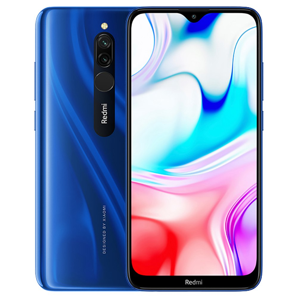 Xiaomi Redmi 8 CN Version 6.22 Inch 4G LTE Smartphone Snapdragon 439 4GB 64GB 12.0MP+2.0MP Dual Rear Cameras Face Identification Dual SIM MIUI 10 - Blue