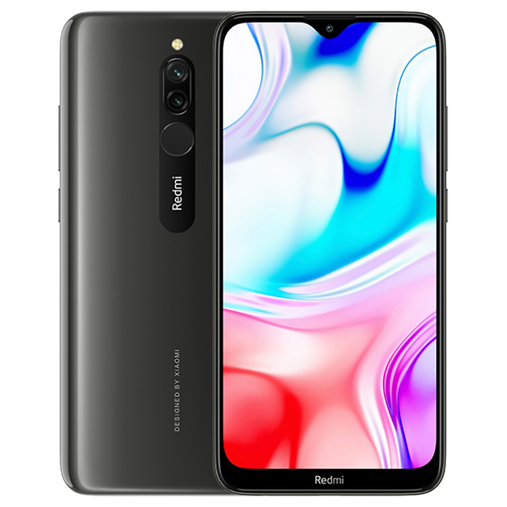 Xiaomi Redmi 8 CN Version 6.22 Inch 4G LTE Smartphone Snapdragon 439 4GB 64GB 12.0MP+2.0MP Dual Rear Cameras Face Identification Dual SIM MIUI 10 - Gray