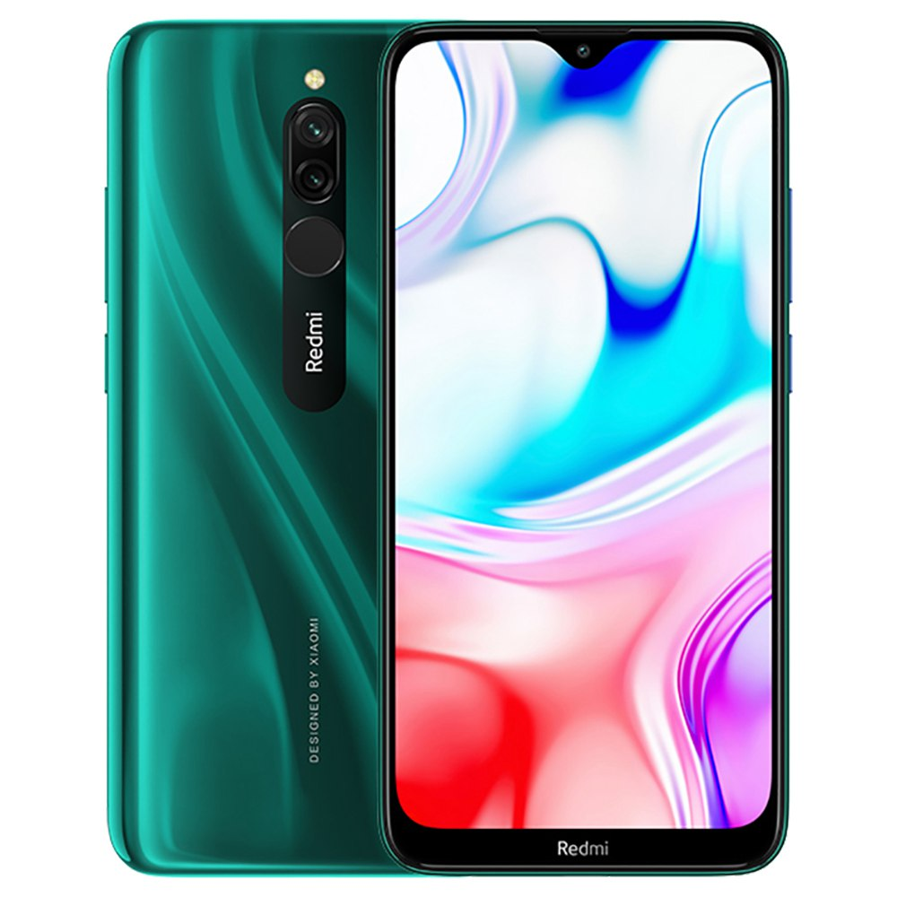 Xiaomi Redmi 8 CN Version 6.22 Inch 4G LTE Smartphone Snapdragon 439 4GB 64GB 12.0MP+2.0MP Dual Rear Cameras Face Identification Dual SIM MIUI 10 - Green