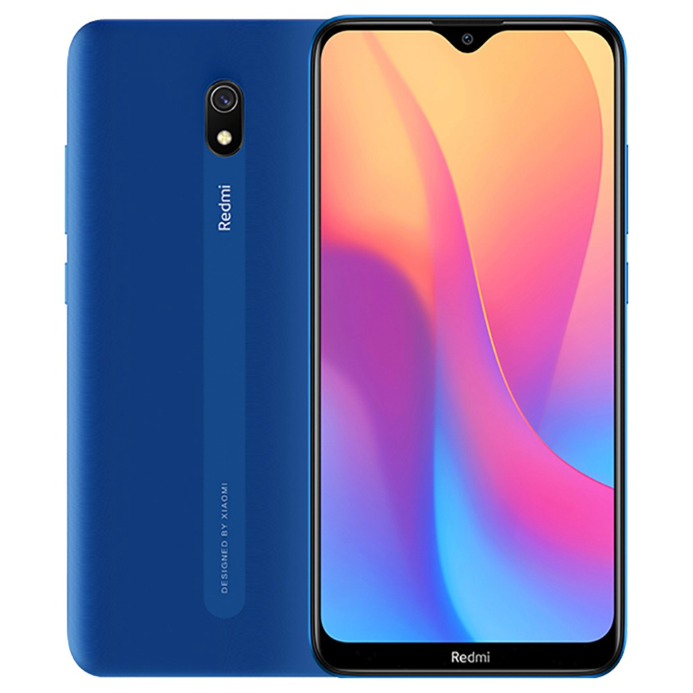 Xiaomi Redmi 8A CN Version 6.22 Inch 4G LTE Smartphone Snapdragon 439 4GB 64GB 12.0MP+8.0MP Dual Cameras Face Identification Dual SIM MIUI 10 - Blue
