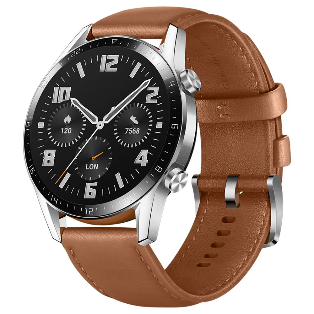 Huawei Watch GT 2 Sports Smart Watch 1.39 Inch AMOLED Colorful Screen Built-in GPS Heart Rate Oxygen Monitor 46mm - Brown