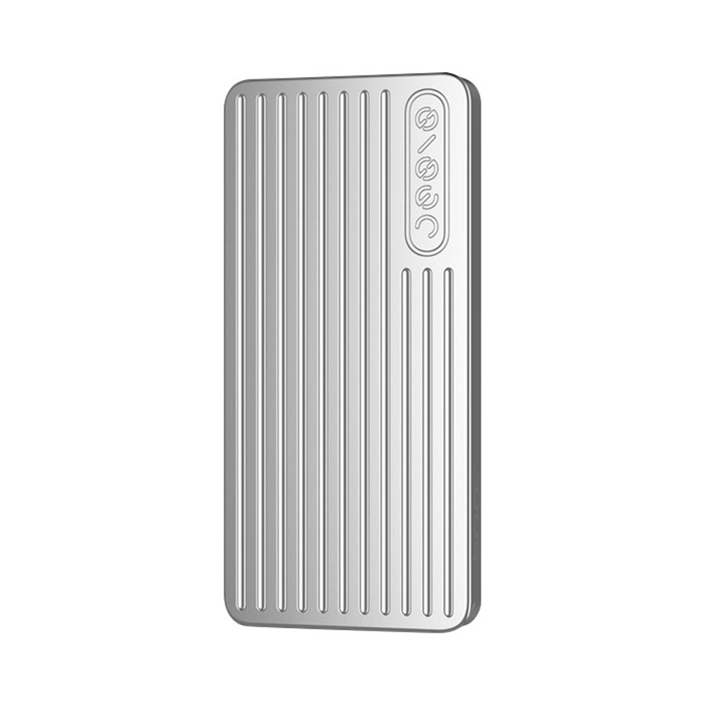 JESIS PSSD P1 500GB Portable External Solid State Drive Metal Material USB-C USB3.1 Read Speed 500MB/S - Silver