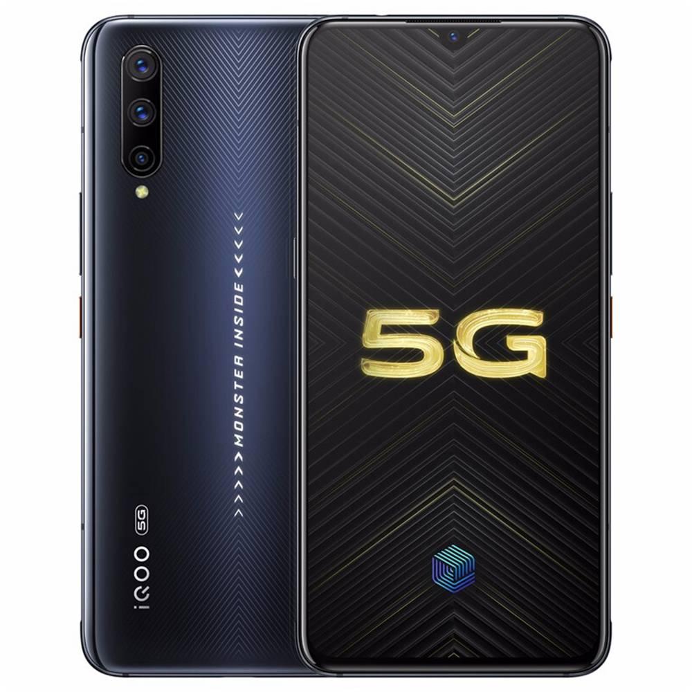 Smartphone Vivo iQOO Pro CN versione 5G Smartphone 6.41 pollici Snapdragon 855 Plus 8 GB 128 GB 48.0 MP + 13.0 MP + 2.0 MP Telecamere posteriori triple NFC ID impronta digitale Doppia SIM Funtouch OS 9.1 - Nero