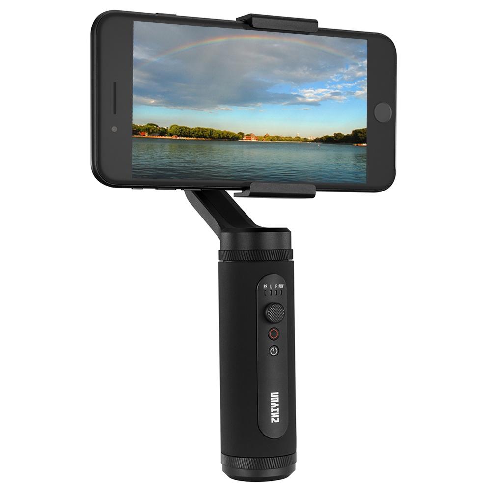 Zhiyun Smooth Q2 3-Axis Smartphone-Kardanstabilisator im Taschenformat mit Schnellverschluss Dolly Zoom 17h Long Standby - Schwarz
