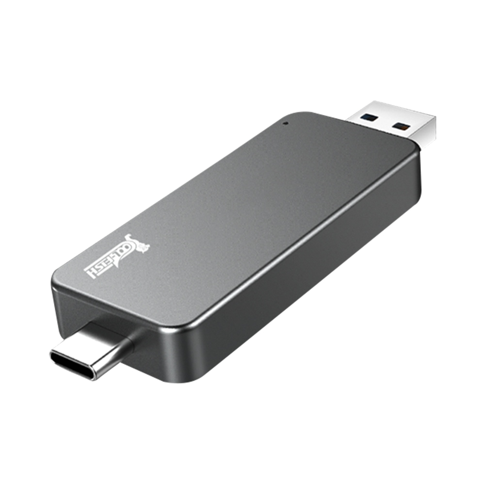 Coolfish GO NGFF 256GB SSD Multifunktionales externes Solid State-Mehrzwecklaufwerk Max. Lesegeschwindigkeit 480MB / S M.2-Schnittstelle - Dunkelgrau