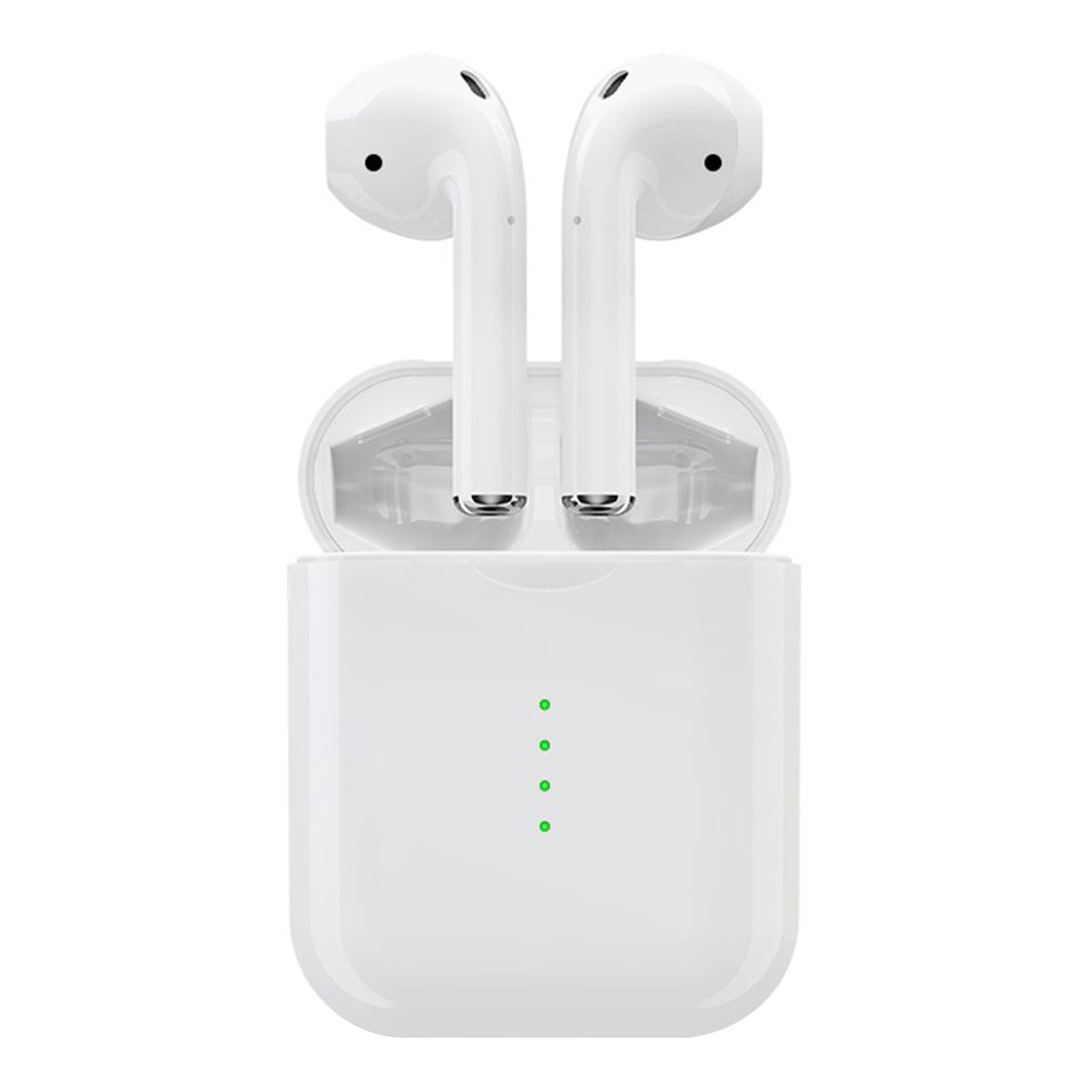 i10 TWS Bluetooth 5.0 Earbuds Independent Use Tap Control Automatically Pairing - White