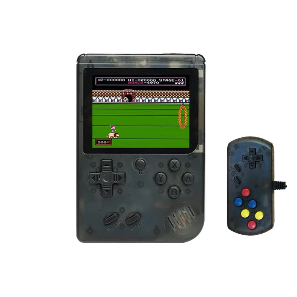 RG300 3-inch Screen 8 Bit Retro Games Console - Light Black