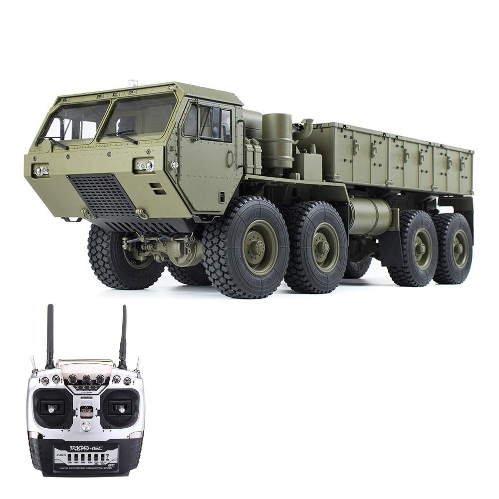 HG HG-P801 M983 2.4G 1:12 8x8 Off-road RC Car Military Truck Without Battery Charger - Army Green