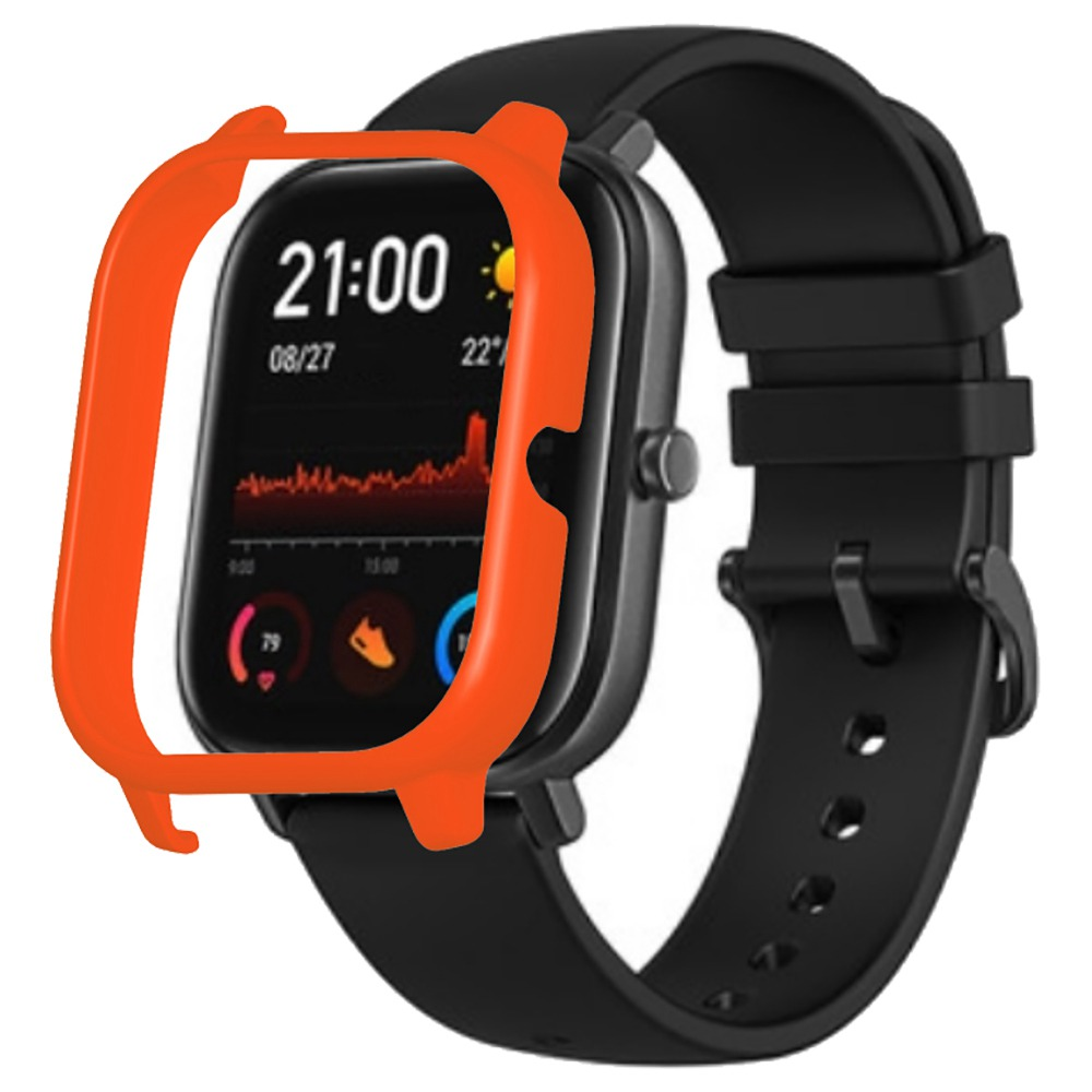 غطاء حماية صلب لجهاز XIAOMI HUAMI AMAZFIT GTS ساعة رياضية ذكية - برتقالي