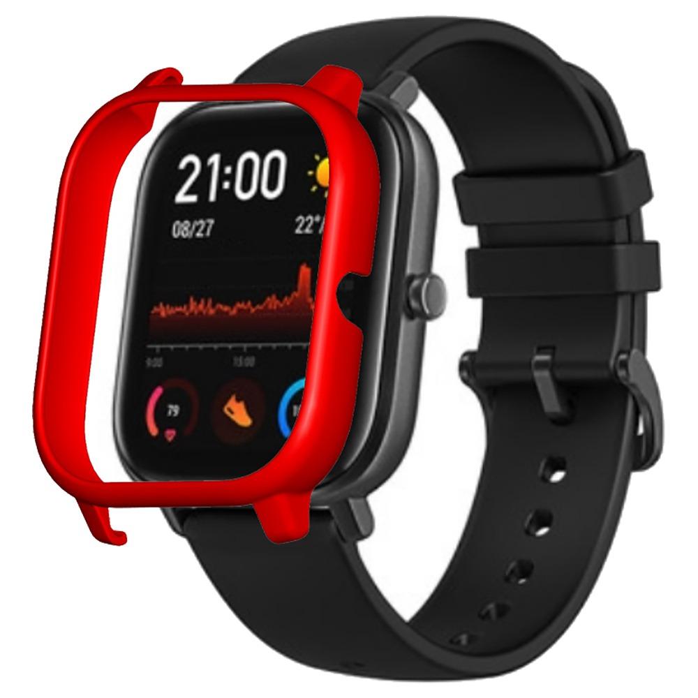 حافظة واقية صلبة لاجهزة شاومي هومي امازفيت جي تي اس ساعة رياضية ذكية - احمر