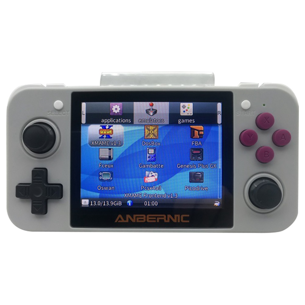 RG350 512M / 144GB Open Source Game Console OpenDingux CFW IPS Display 20000 Games 2500mAh Battery -Grey
