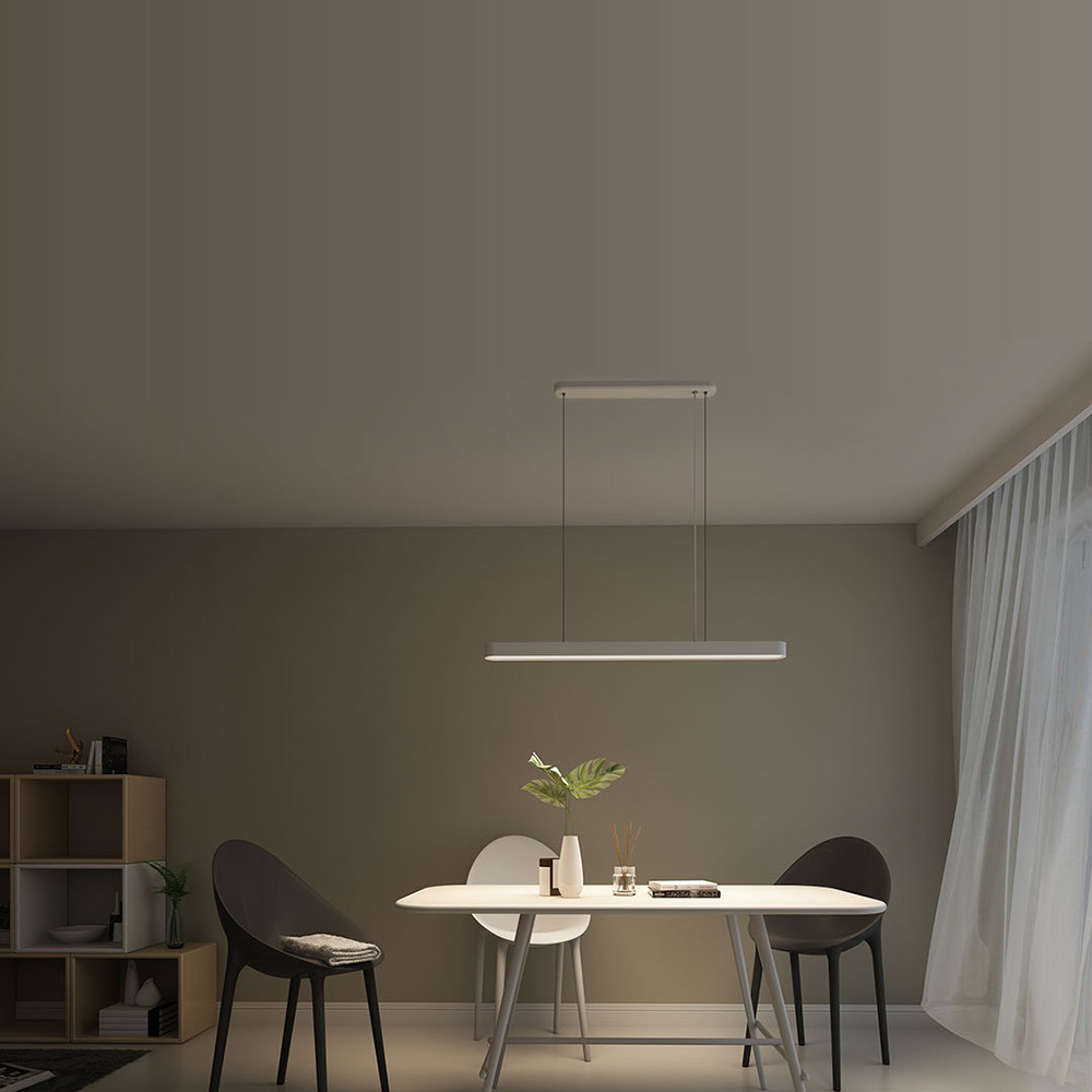 YEELIGHT YIDL01YL LED الذكية قلادة ضوء 6500K APP التحكم عن بعد لغرفة الطعام - وايت
