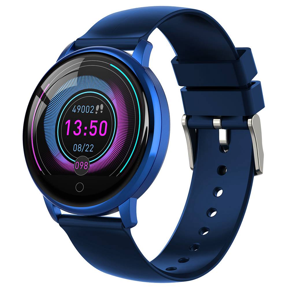 ساعة ذكية من مايبيس E38 ساعة ذكية 1.22 Inch IPS شاشة ملونة IP67 Waterpoof معدل ضربات القلب مراقب ضغط الدم سيليكون الشريط - الأزرق