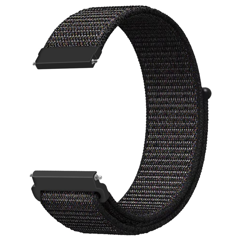 Replacement Watch Band For Huami Amazfit GTS Loop Nylon Canvas Strap - Black
