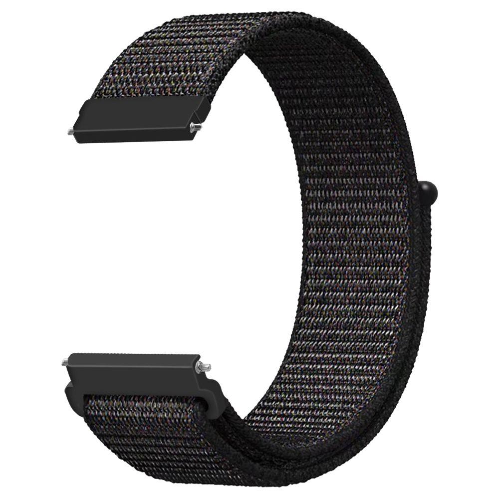 Ersatz-Uhrenarmband für Huami Amazfit GTS Loop Nylon Canvas Strap - Schwarz