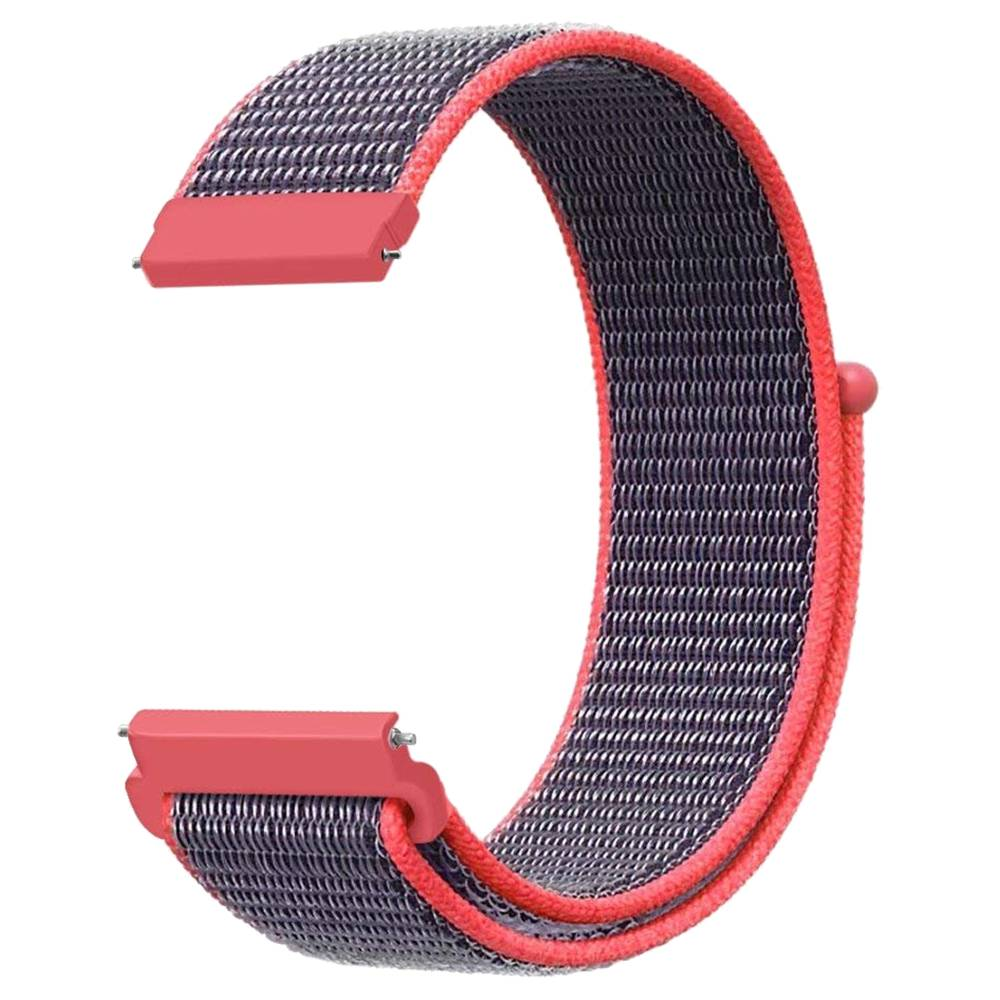 Replacement Watch Band For Huami Amazfit GTS Loop Nylon Canvas Strap - Blue & Red