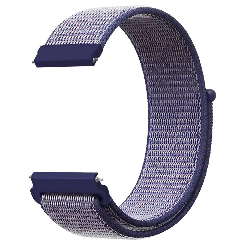 Ersatz-Uhrenarmband für Huami Amazfit GTS Loop Nylon Canvas Strap - Dunkelblau