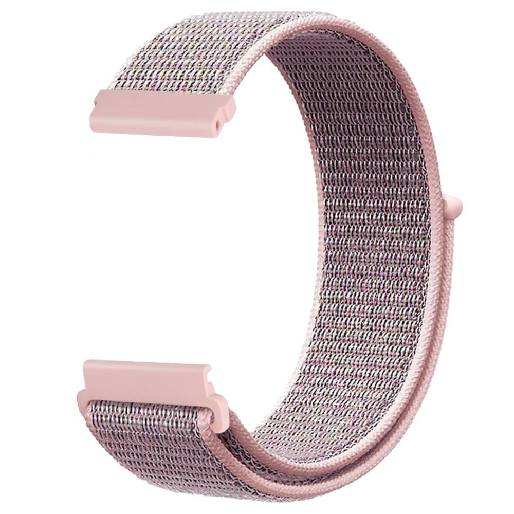 Cinturino di ricambio per cinturino in tela di nylon Huami Amazfit GTS Loop - rosa