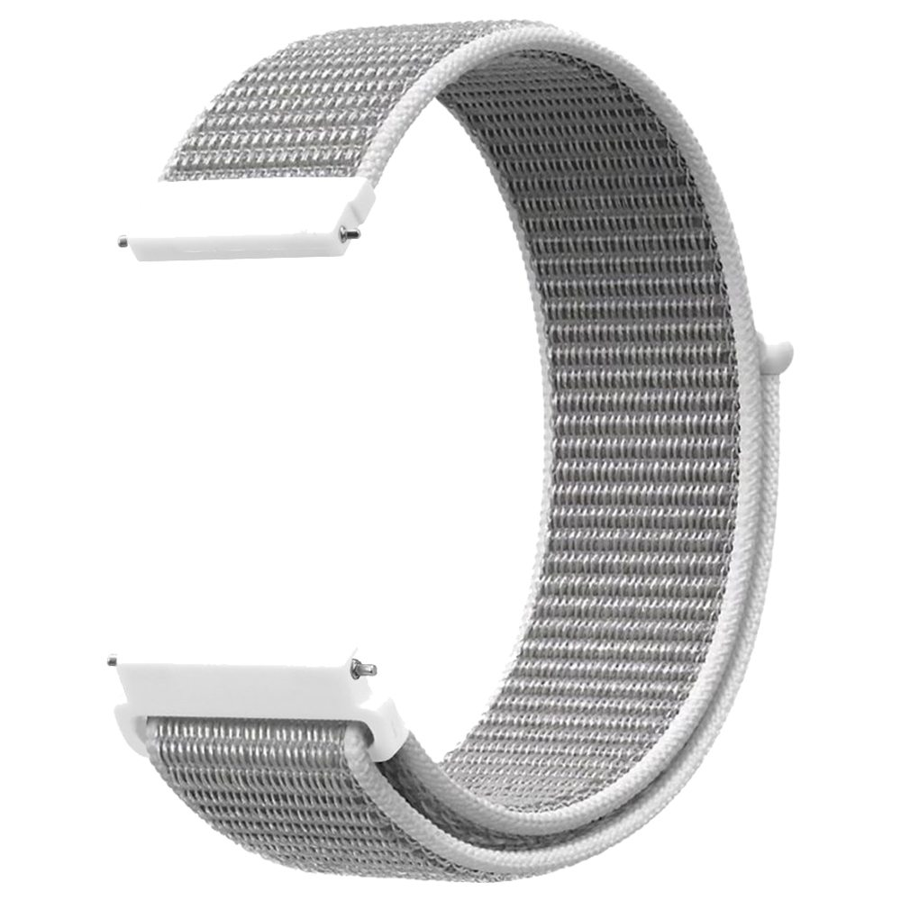 Cinturino di ricambio per cinturino in tela di nylon Huami Amazfit GTS Loop - bianco