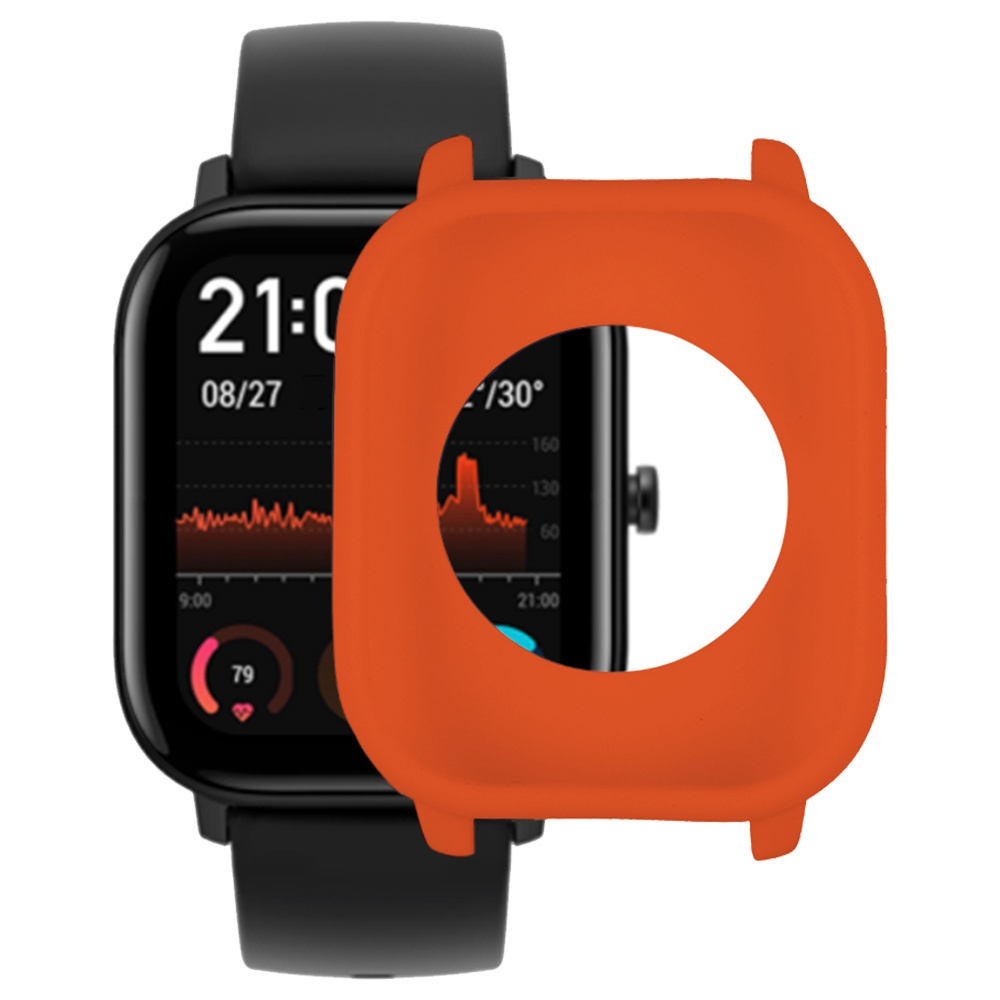 Silicone Anti-cracking Protective Soft Cover Case For Xiaomi Huami Amazfit GTS Smart Watch - Orange