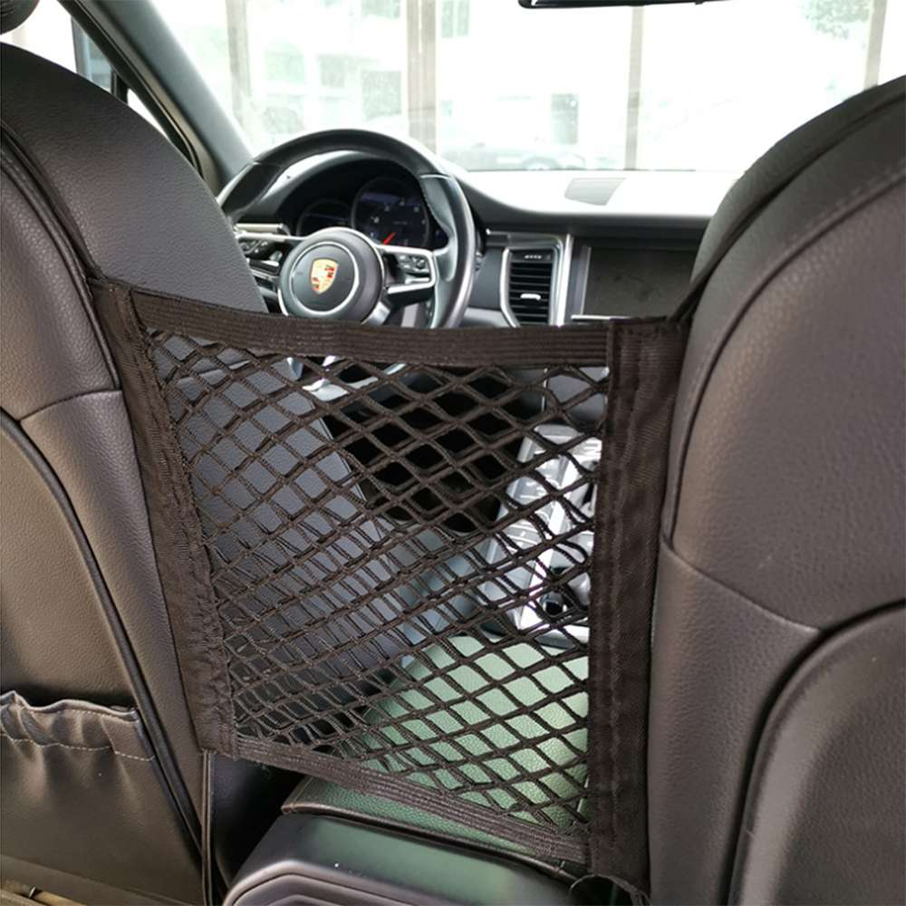 2pcs Car Seat Spacing Elastic Storage Ne