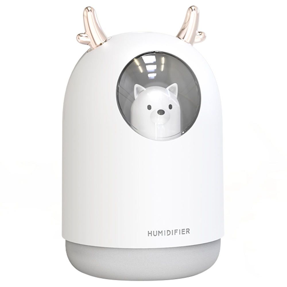 Desktop Humidifier 300ML USB Charging Mini Portable Aromatherapy Machine - White