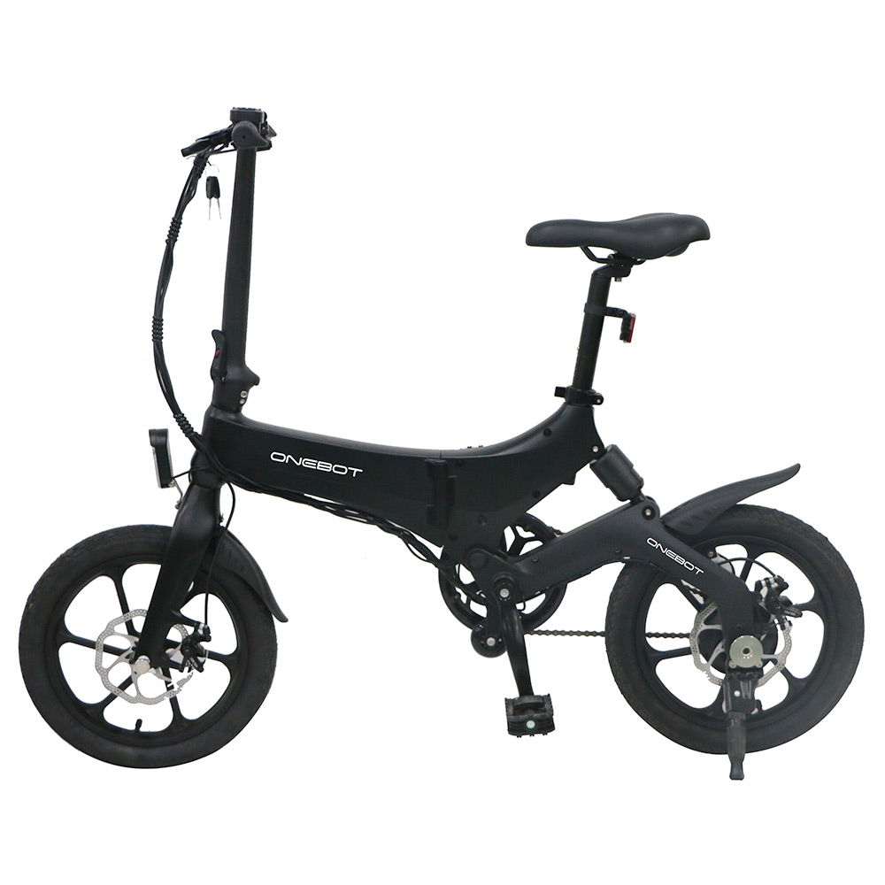 ONEBOT S6 Portable Folding Electric Bike 16 ιντσών 250W Motor Max 25km / h 6.4Ah Battery - Μαύρο