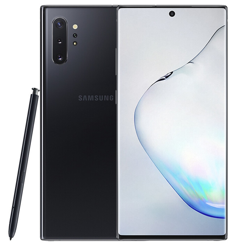 Samsung Galaxy Note 10 Plus CN Version 5G Smartphone 6.8 Inch Snapdragon 855 12GB 256GB 12.0MP+16.0MP+12.0MP+3D Depth Vision Quad Rear Cameras NFC Fingerprint ID Dual SIM Android 9.0 (Black) + Original S Pen