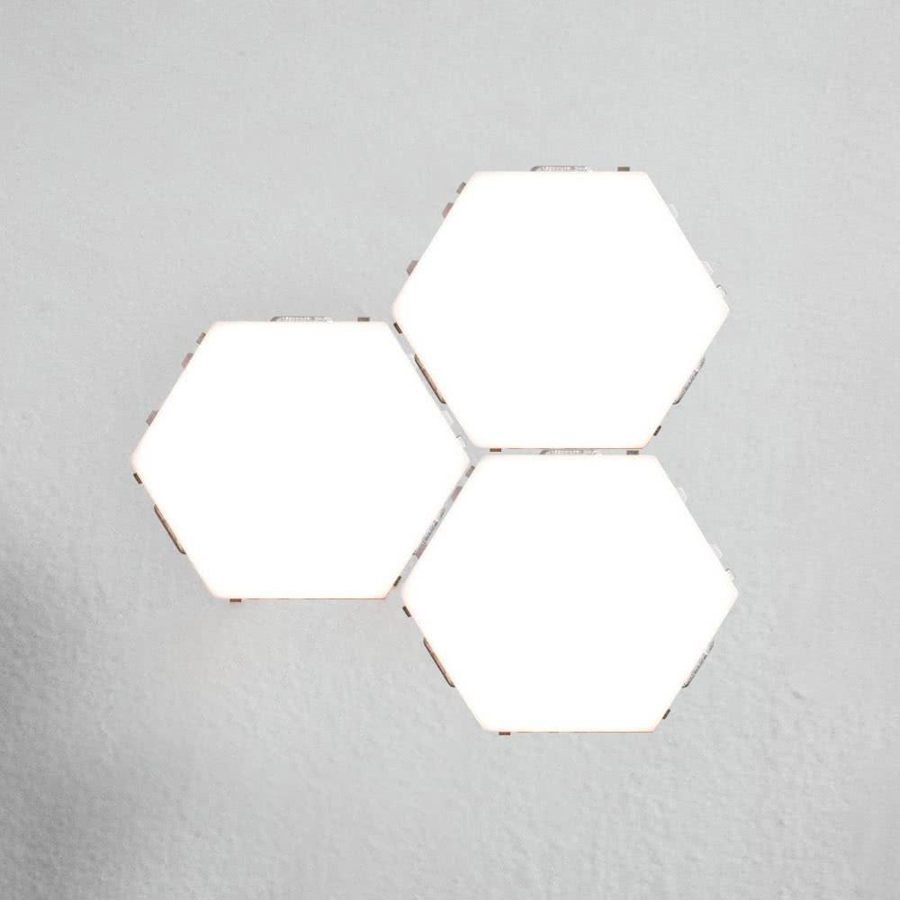 3pcs ضوء وحدات الحساسة التي تعمل باللمس للديكور غرف معيشة الاتحاد الأوروبي التوصيل - وايت