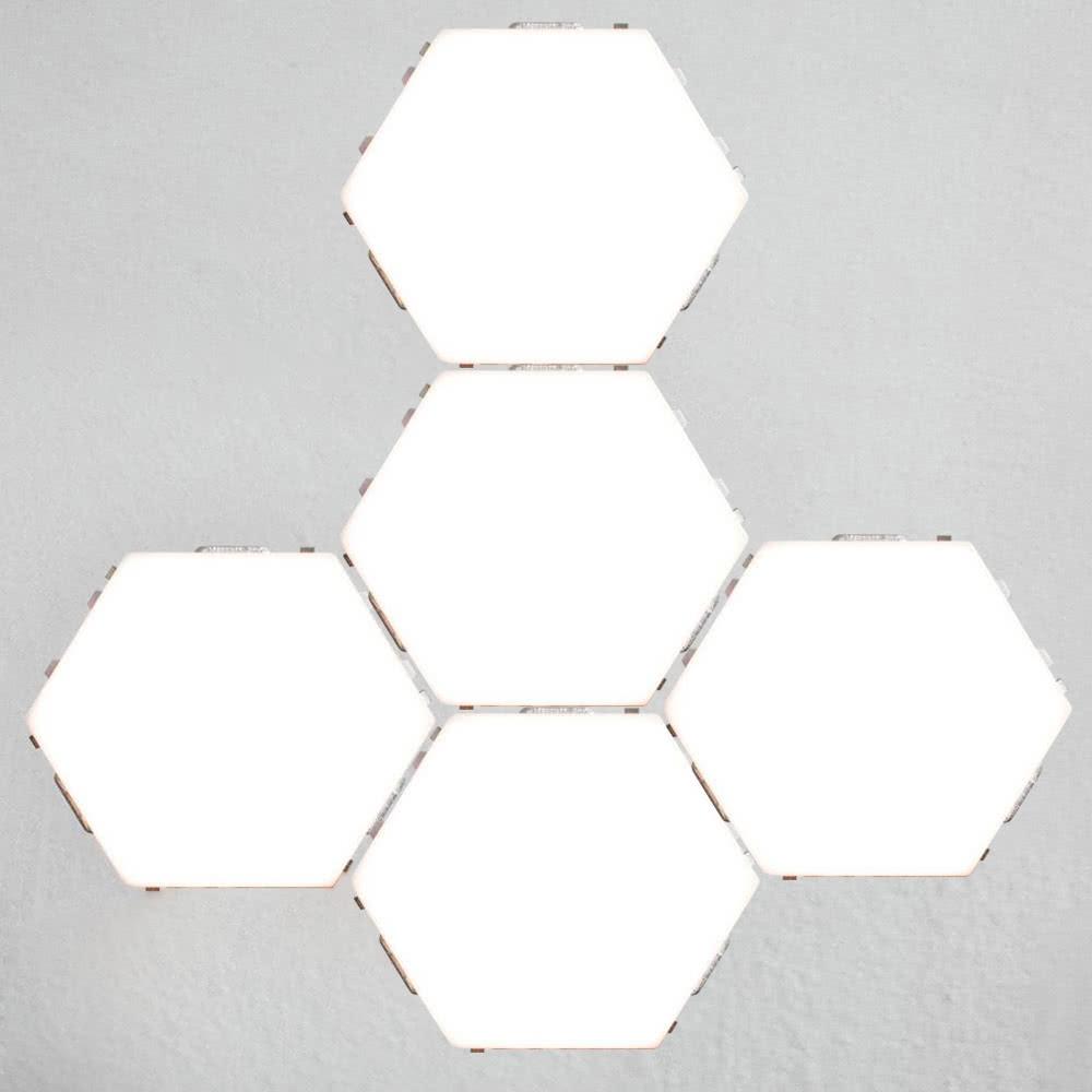 5pcs ضوء وحدات الحساسة التي تعمل باللمس للديكور غرف معيشة الاتحاد الأوروبي التوصيل - وايت