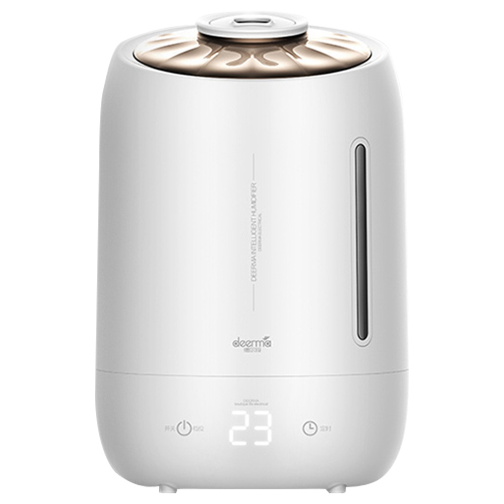 DEERMA DEM F600 Household Ultrasonic Humidifier 5L Capacity Aromatherapy Machine With Silver Carbon Ion Water Purification Box - White
