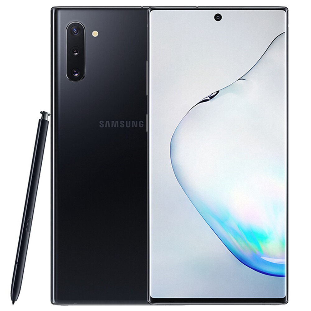 Samsung Galaxy Note 10 CN Version 4G Smartphone 6.3 Inch Snapdragon 855 8GB 256GB 12.0MP + 16.0MP + 12.0MP الثلاثية الخلفية الكاميرات NFC Fingerprint ID Dual SIM Android 9.0 (أسود) + Original S Pen