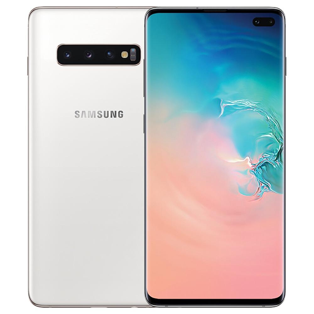 Samsung Galaxy S10 Plus CN Version 4G Smartphone 6.4 Inch Snapdragon 855 8GB 512GB 12.0MP+16.0MP+12.0MP Triple Rear Cameras NFC Fingerprint ID Dual SIM Android 9.0 - White фото