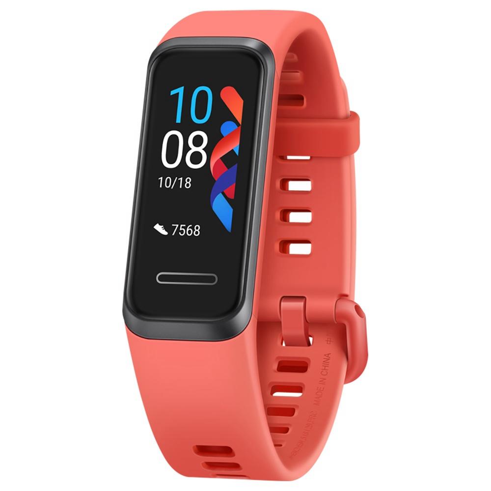 هواوي سوار 4 ذكي سوار 0.96 Inch AMOLED Touch شاشة ملونة كبيرة 5ATM مراقب معدل ضربات القلب بالأكسجين - برتقالي