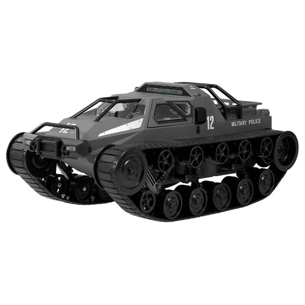 SG 1203 1: نموذج دبابة الشرطة العسكرية الانجراف 12 2.4G 12km / h عالي السرعة RC Tank RTR للأطفال - أسود