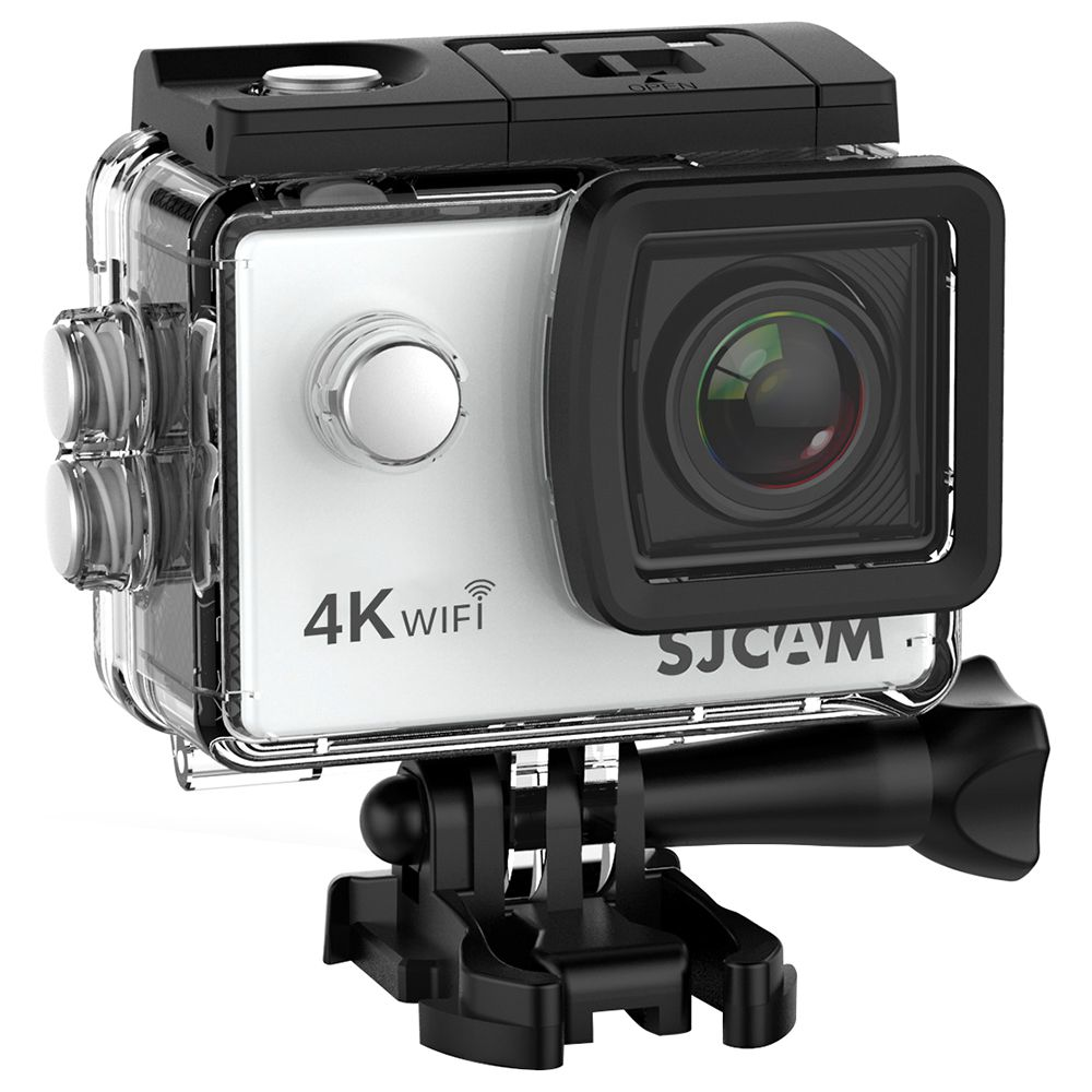 SJCAM SJ4000 AIR 4K Action Camera WiFi 2.0 Inch LCD Screen 12MP Sensor 170 Degree HD Wide Angle Len With Waterproof Case - Silver
