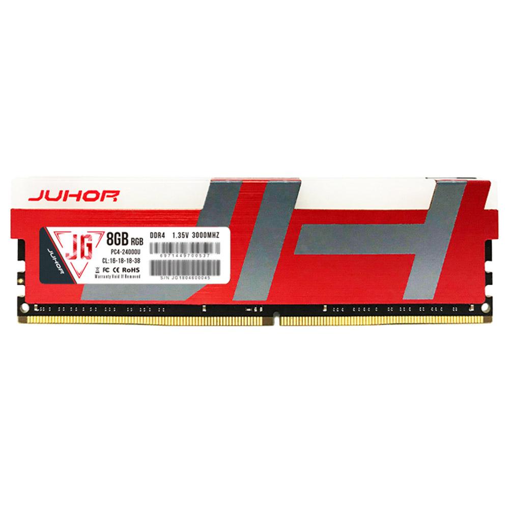 Juhor DDR4 8GB 3000Mhz 1.35V 288 Pin RAM Desktop Memory Module With RGB