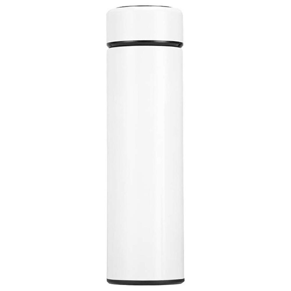 500ML Smart Thermos Cup Tragbarer 304-Edelstahl mit LCD-Temperaturanzeige - Weiß