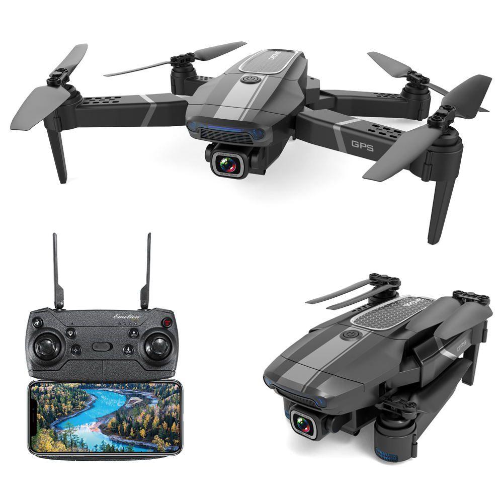 JDRC JD-22S 4K 5G WIFI FPV GPS dobrável RC Drone com câmera UHD ajustável 16mins Tempo de voo Siga-me modo RTF - Duas baterias com saco