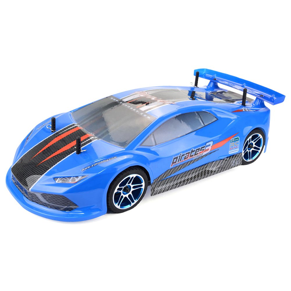 ZD Racing Pirates 3 TC-10 1 / 10 2.4G 4WD 60km / h Automobile da turismo elettrica senza spazzole RC impermeabile blu - RTR - Blu