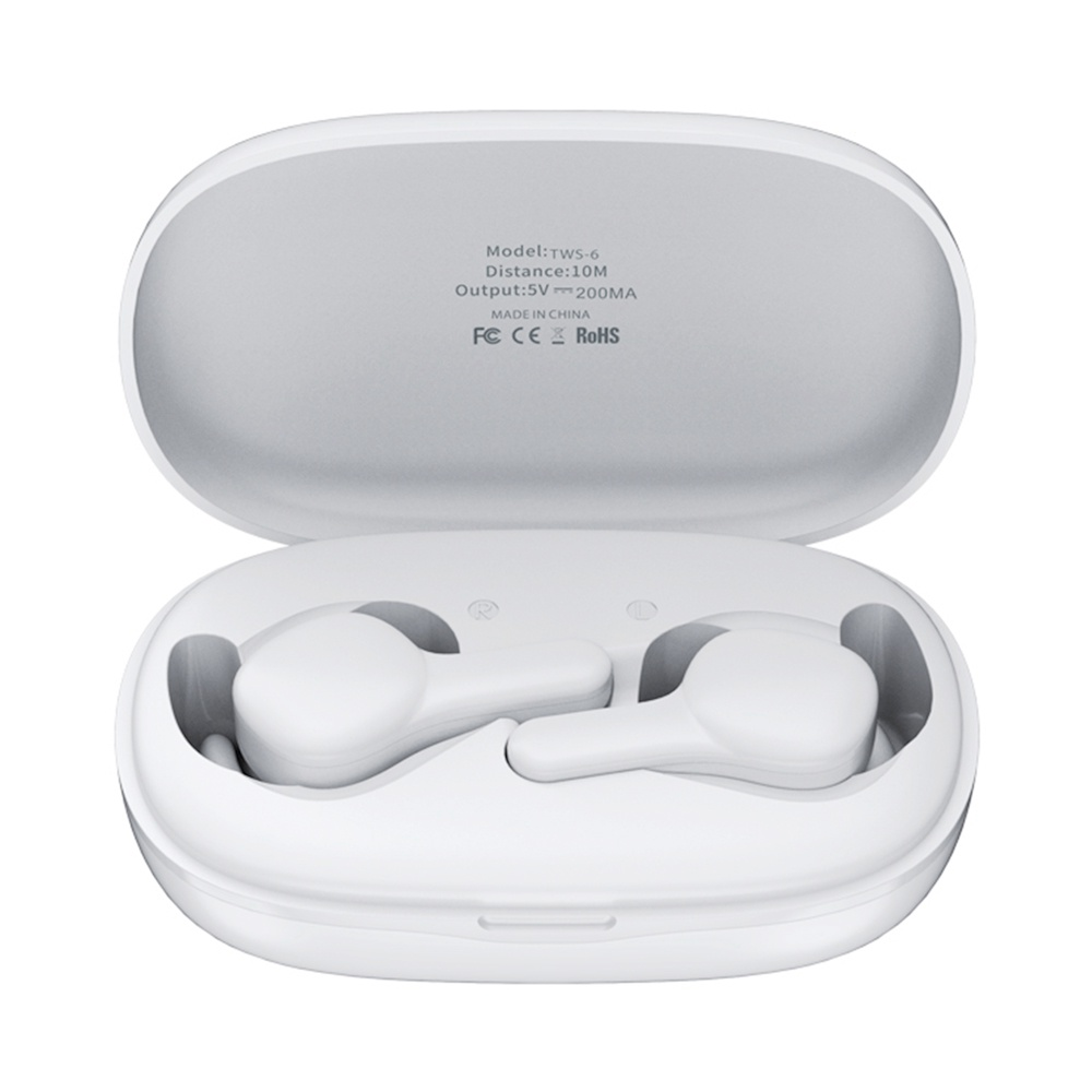 Remax TWS-6 Bluetooth 5.0 TWS Earphones Siri Battery Display Noise Cancelling фото