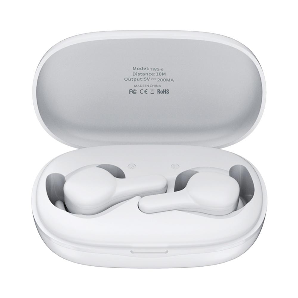 Remax TWS-6 Bluetooth 5.0 TWS fülhallgató Siri akkumulátor kijelző zajcsökkentő