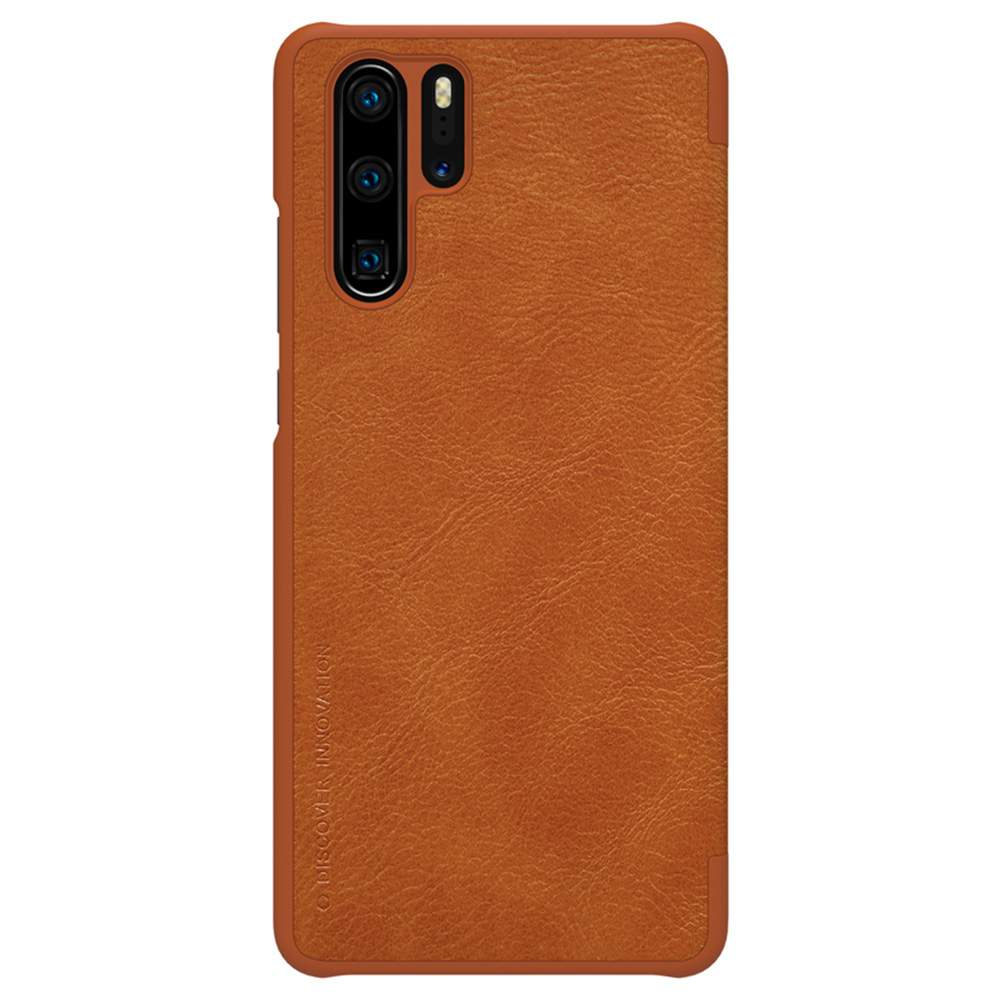 NILLKIN Protective Leather Phone Case For HUAWEI P30 Pro Smartphone - Brown фото