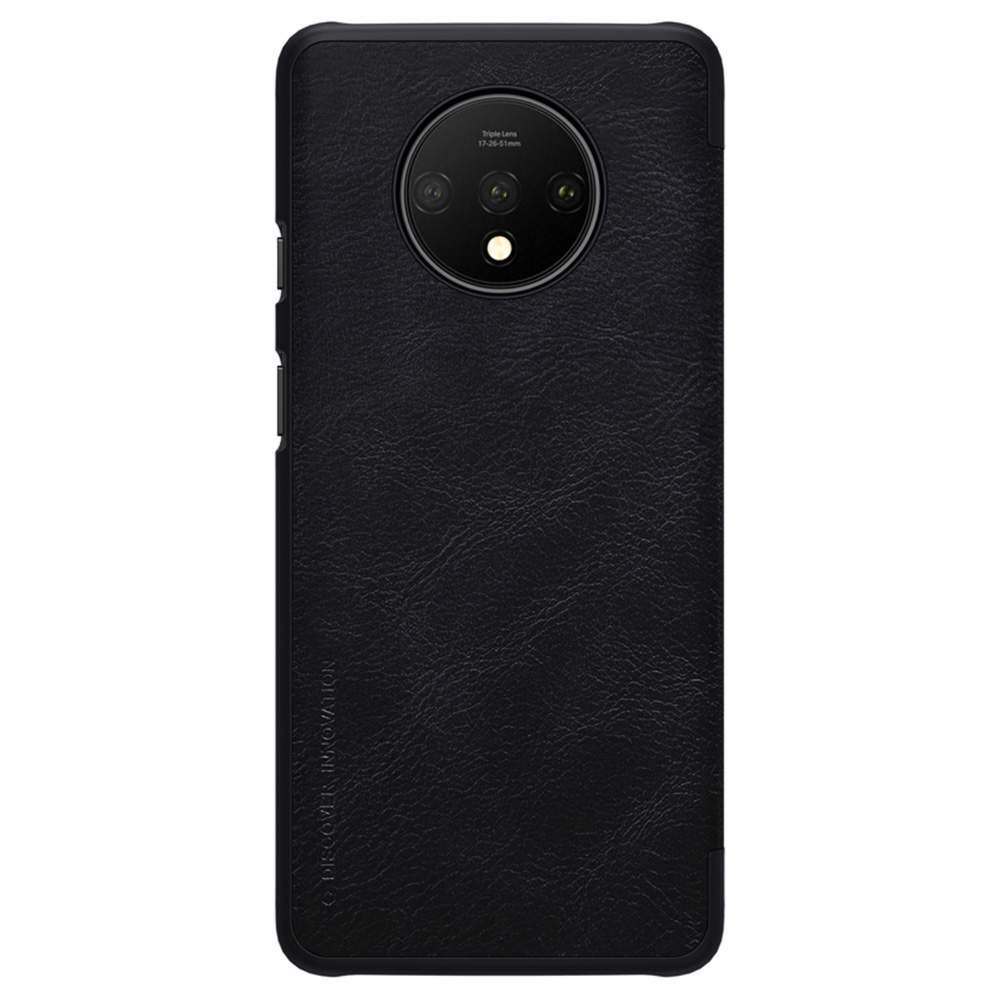 NILLKIN Protective Leather Phone Case For Oneplus 7T Smartphone - Black