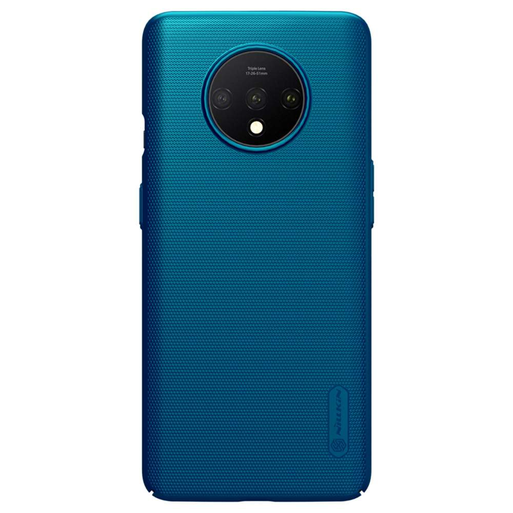 NILLKIN Protective Frosted PC Phone Case For Oneplus 7T Smartphone - Blue